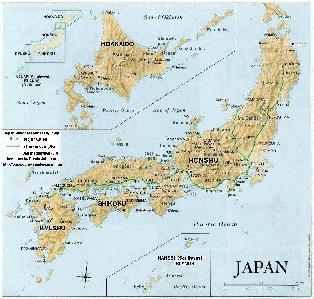 Japani Kartta Vaihteisto Ja Kauneus